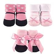 3-Piece Little Shoe Socks Gift Set (0-9 Months, Ballerina)