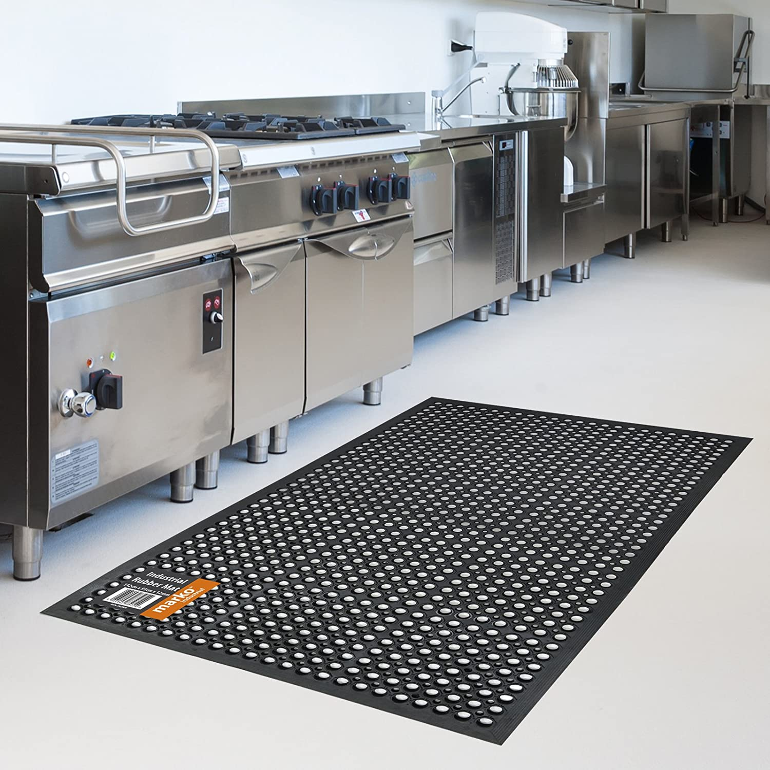 Rubber Mats For Kitchen Floor Rubber Floor Safety Mat 5x3 Ft Anti Fatigue Kitchen Bar Drainage