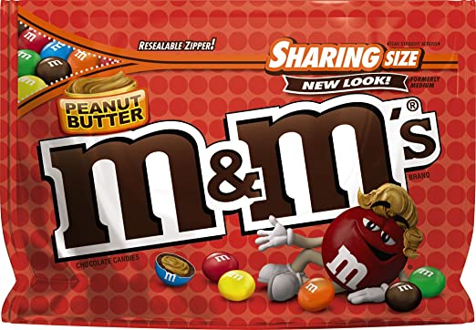 Image result for peanut butter m&ms sharing size