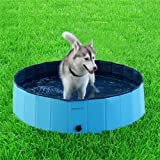 Dog Pool, 3 Size S, M, X-L Outdoor Dog Cat Swimming Pool Playing Pond Foldable Water Pool Shower Bathing Bathtub
