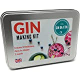Real Gin Making Kit | Make 3 Botanical Gins at Home in Less Than A Week! Recipes and Botanicals Included