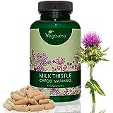 Cardo Mariano Vegavero | 100 capsule da 420 mg | 80% in Silimarina | Disintossicante Naturale del Fegato | Ottimo Diuretico | Certificato Vegan | Integratore di qualità tedesca