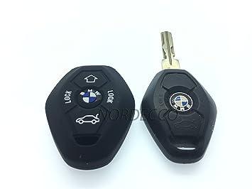 Alta calidad Silicona Key Fob remoto 3/4 botón fob Protector caso BMW 3 E35 E46 E90 E39 38 36 E91 E60 65 66 67 E61 E53 BMW 3 5 6 7 modelo de la serie ...