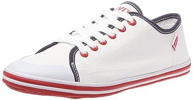 72a8d8658ae65 Levi s 214886-733-51, Baskets mode homme - Blanc rouge, 43 EU ...