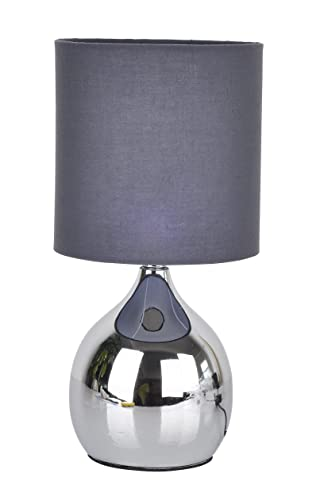 Modern touch lamp lounge bedside table lights lamps chrome copper modern touch lamp lounge bedside table lights lamps chrome copper finish grey mozeypictures Image collections