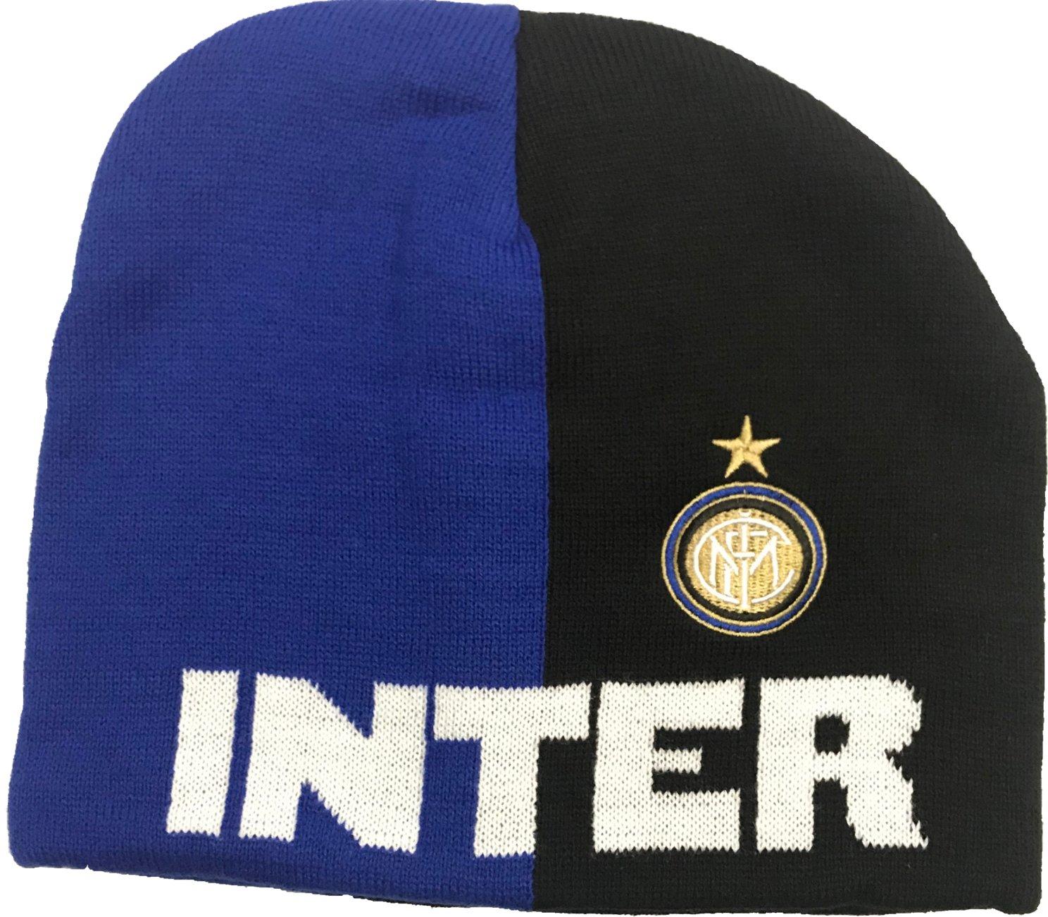 3r sport srl Bonnet Inter F.C. noir bleu inscription blanche 100 %  acrylique produit officiel 20dc491168a