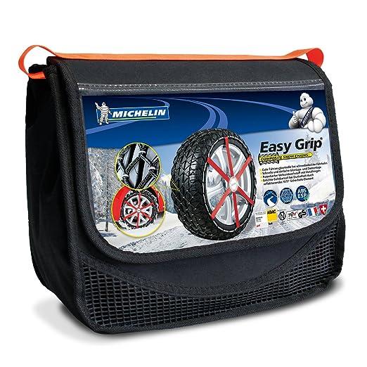 Michelin 92306 Cadenas de nieve de tela para coche (compatible con ABS y ESP, certificado TÜV/GS y ÖNORM), Easy Grip S11, 2 piezas: Amazon.es: Coche y moto