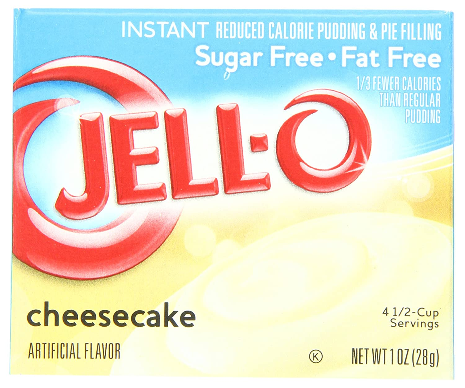 Amazon Jell O Sugar Free Instant Pudding Pie Filling Cheesecake 1 Ounce Boxes Pack Of 24 Cooking And Baking Mixes Grocery Gourmet