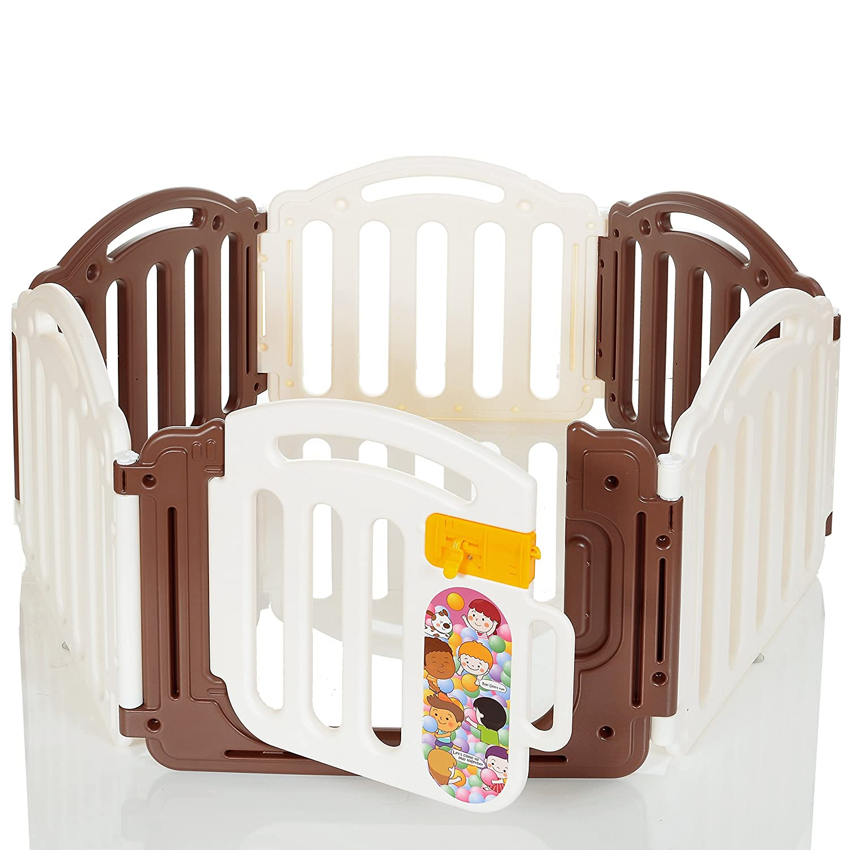 Box bambini parco per gattonare 6 lati con porta de LCP Kids 894