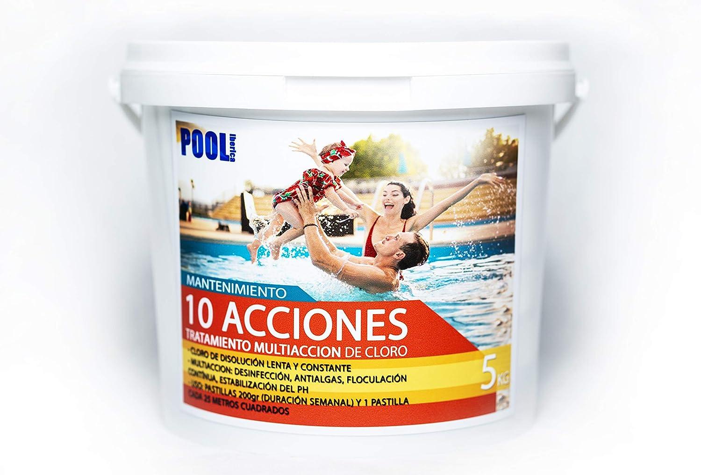 iFONT Cloro 10 acciones | Mantenimiento de Piscina | Tratamiento Multiacción | Formato 5 kg | POOLiberica