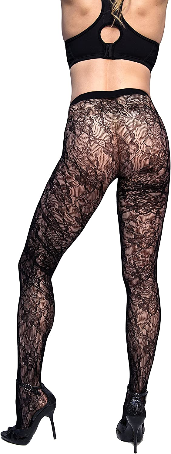 Curvation womens Figure Enhancing Blossom Tights at  Women's Clothing store