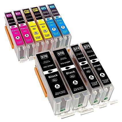 Multi Pack ESMOnline 10 comp. XL Cartuchos de impresora para Canon ...