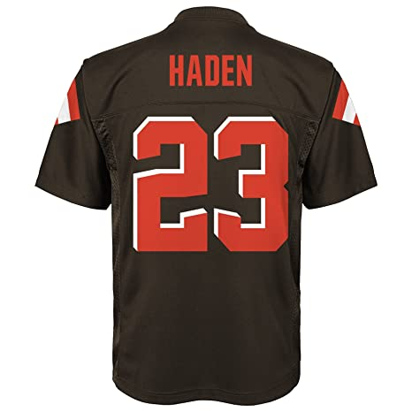 c8c0e9c0 NFL Youth Boys 8-20 Joe Haden Cleveland Browns Player Name & Number Jersey,  Large/(14-16), Brown Suede