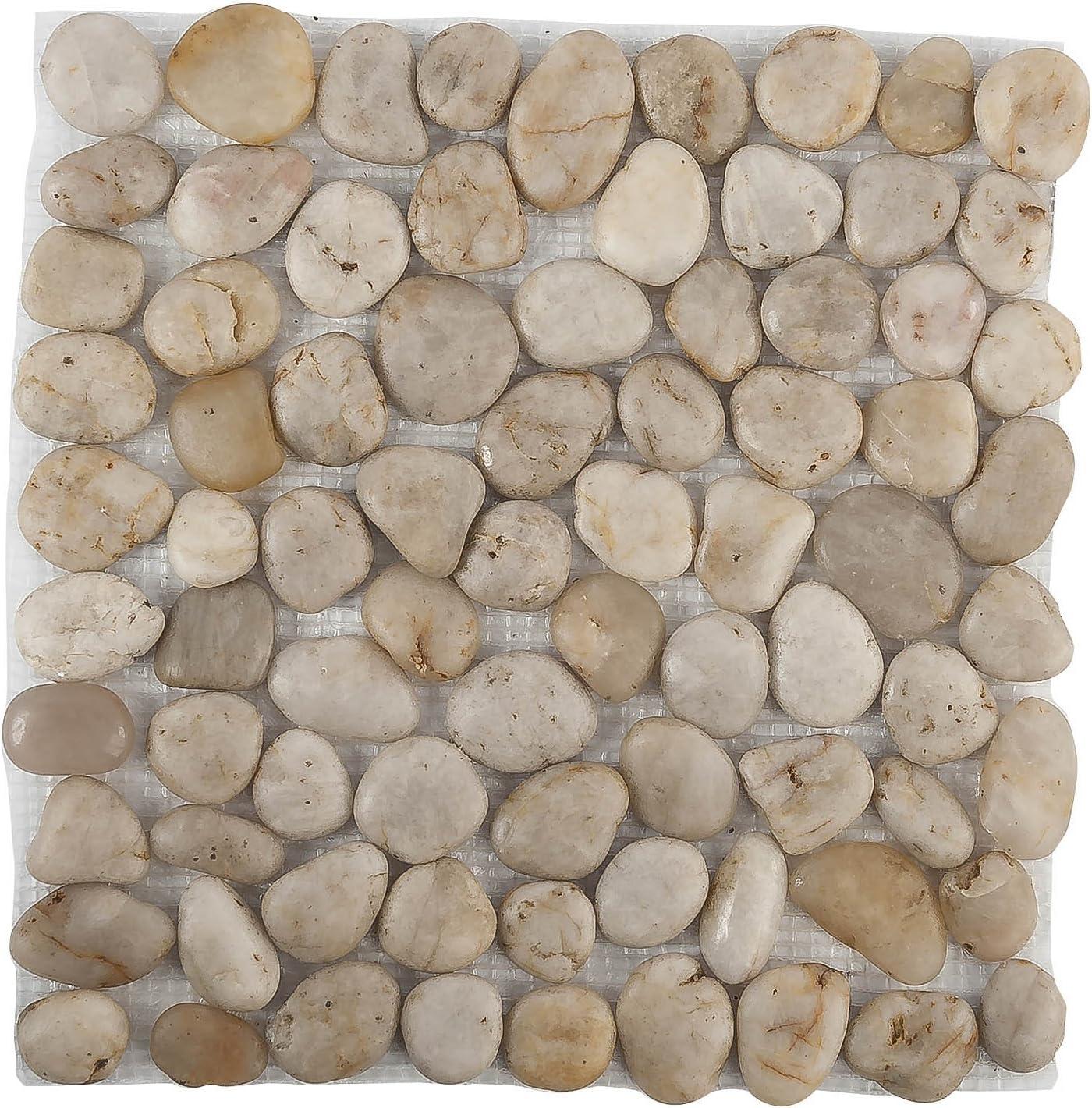 Loseta Piedra Blanca 2-4cm/33x33cm 1 diseño: Amazon.es: Jardín
