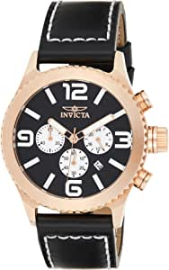 Invicta Specialty Men's Black Dial leather Band Chronograph Watch - INVICTA-1429