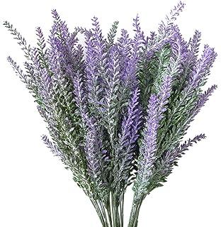 Amazon luyue 8pcs artificial lavender flowers bouquet fake hibery 6 bundles artificial lavender plant with silk lavender flowers lavender bouquet for wedding decor junglespirit Images