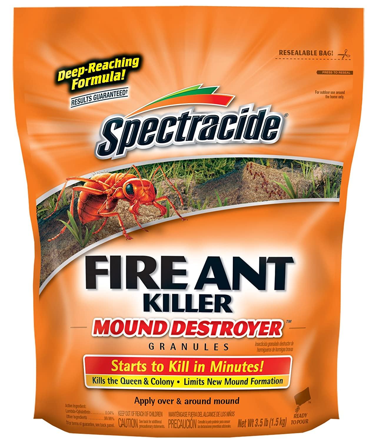 Spectracide HG-53225 Fire Ant Killer Mound Destroyer Granules, 3.5-Pound, Pack of 1 United Industries 100046125
