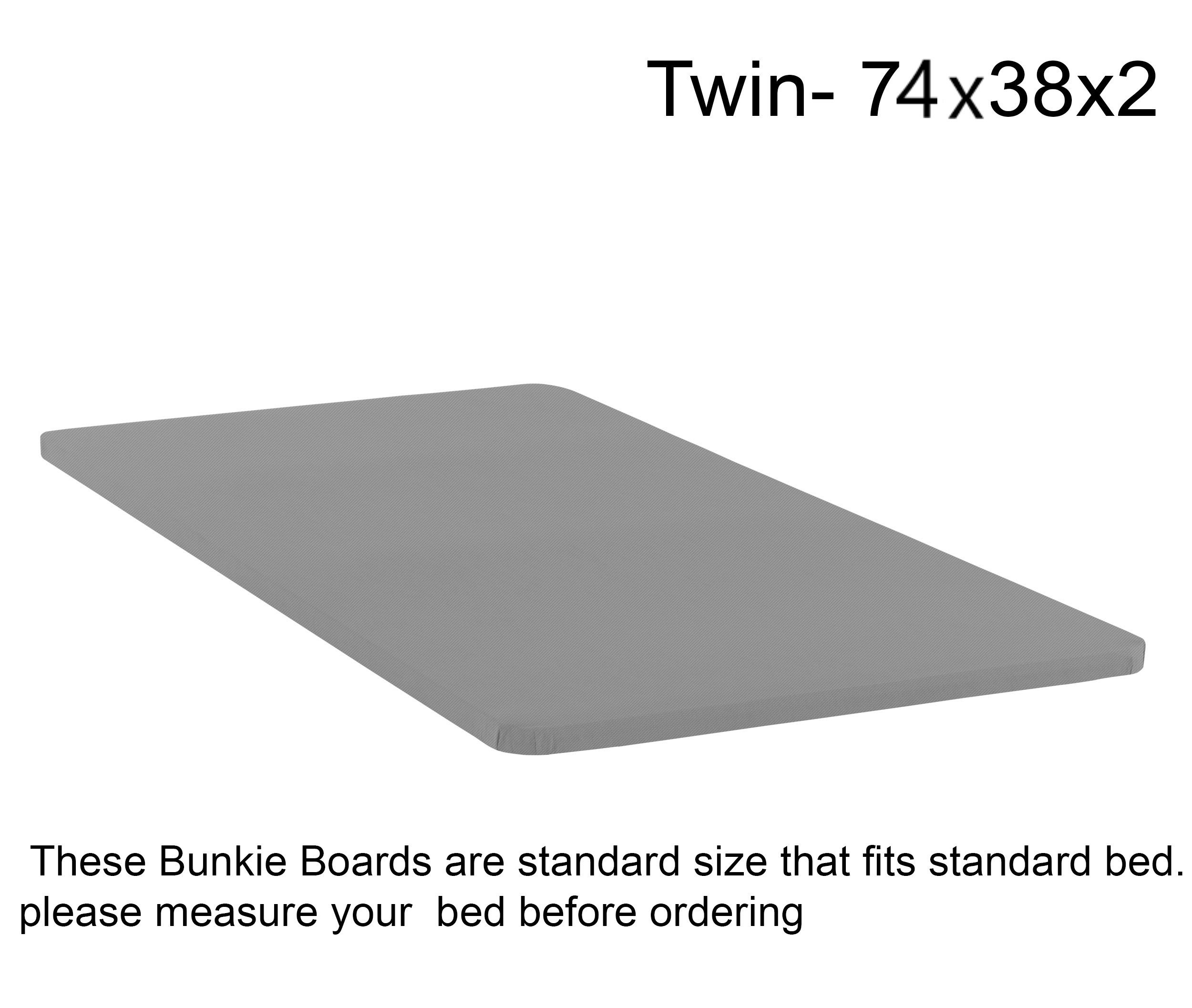 Mattress Solution, Fully Assembled 2'' Foundation Bunkie Board, Twin Size