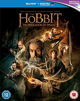 Amazon Com The Hobbit The Desolation Of Smaug Blu Ray 2013 Martin Freeman Ian Mckellen Peter Jackson Movies Tv