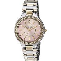 Anne Klein Women's Swarovski Crystal Accented Two-Tone Bracelet Watch, AK/1855PKTT
