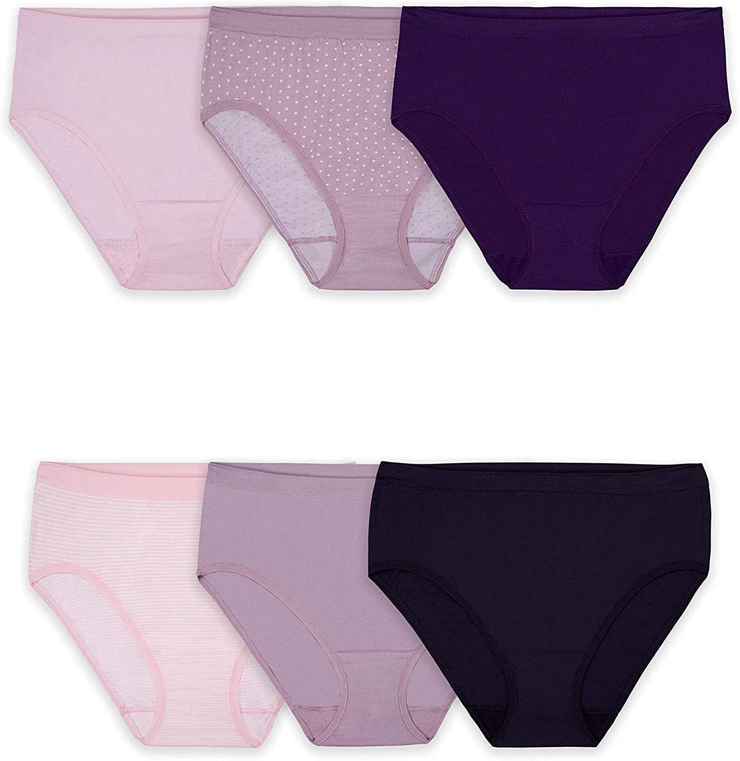 Fit for Me® by Fruit of the Loom® Women/'s 3-pack Seamless Boy Shorts  INVISIBLE