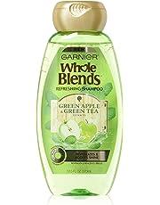 Garnier Whole Blends Green Tea and Green Apple Refreshing Shampoo, 370 ml