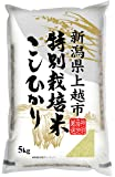 【精米】新潟県上越市産 特別栽培米白米 こしひかり 5kg 平成29年産