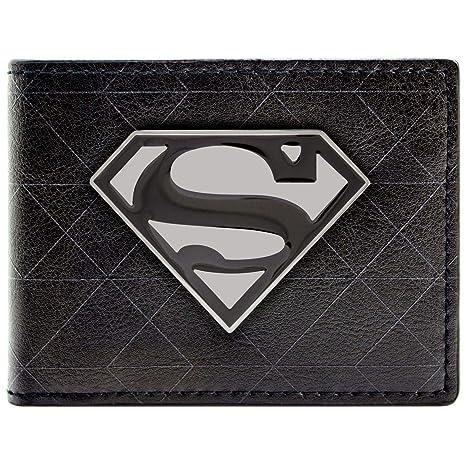 Cartera de DC Comics Superman símbolo de la insignia Negro ...