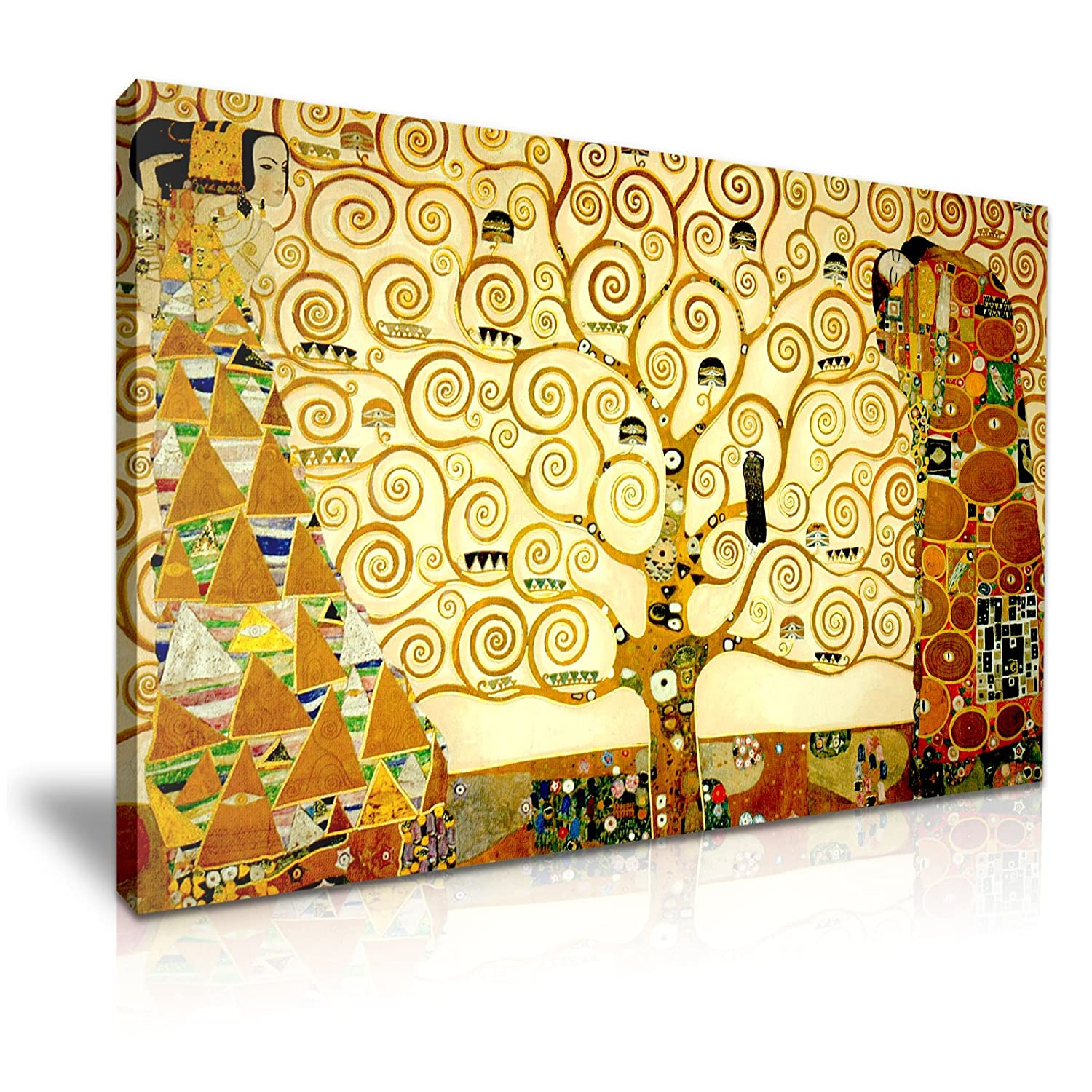 Gustav Klimt The Tree of Life Canvas Wall Art Picture Print ...