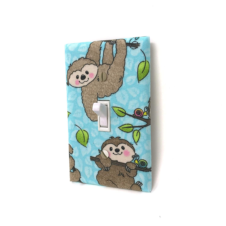 Jungle Nursery Decor Cute Sloth Light Switch Cover Plate