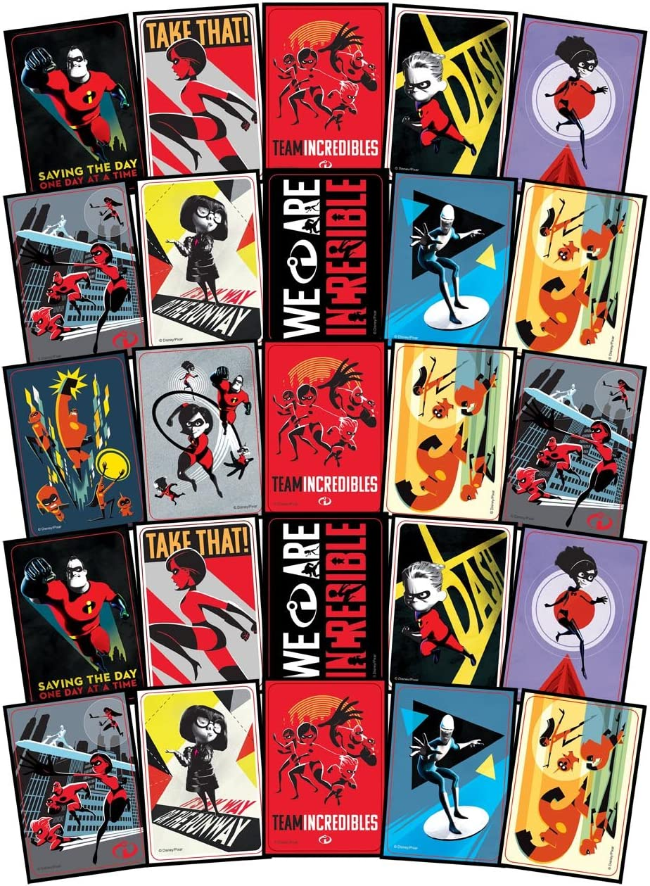 Incredibles 2 Stickers Party Favors Pack 12 Sheets of Disneys Incredibles 2 Stickers Bundled With 2 Separately Licensed Prize Reward Stickers Bundle of Fun