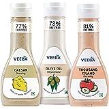 Veeba Caesar Dressing, 300g with Olive Oil Mayonnaise, 300g and Thousand Island Dressing, 300g