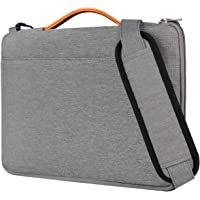 Inateck 14 Inch Laptop Shoulder Bag, Spill-resistant Laptop Sleeve Case for 14-14.1 Inch Laptop, Chromebook, Notebook, Ultrabook, MacBook Pro 15 Inch 2018/2017/2016 - Gray