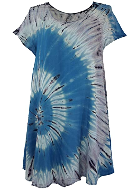 GURU-SHOP, Batik Túnica, Hippie Chic, Vestido de Playa, Vestido de