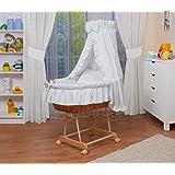 WALDIN Landau/berceau pour bébé avec équipement - 9 coloris disponibles,blanc
