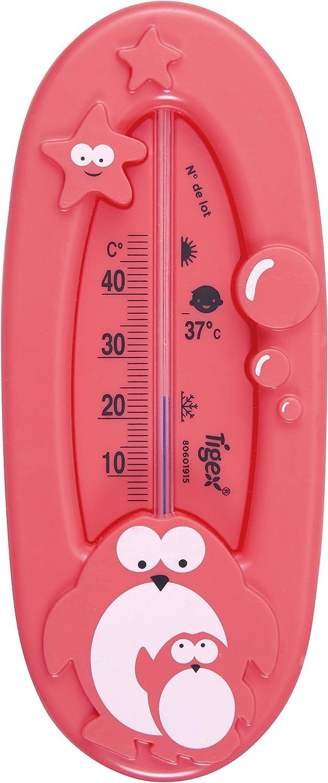 Tigex 84000045 - Termómetro de baño, diseño pingüino, color rojo