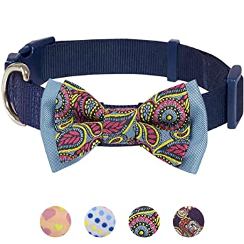 4 Pack Adjustable Bow tiesfor Small Medium Large Dogs Flamingo Dog Bow Tie