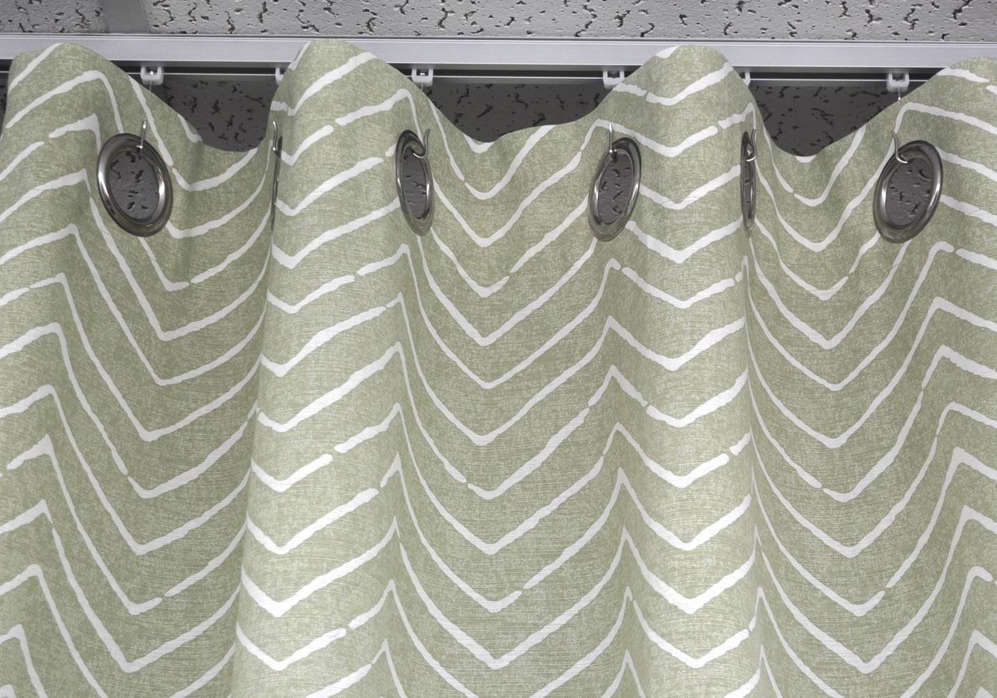 Amazon.com: Ceiling Curtain Track Set with Wheeled Carriers, Hooks ...