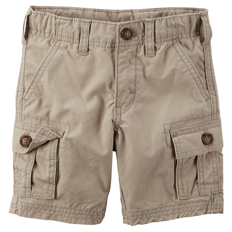 Carters Boys Ripstop Cargo Shorts Khaki 6 Months