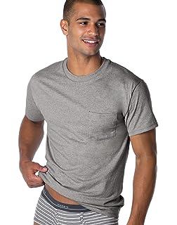 284929f1f53a Amazon.com: Hanes Men's Fresh IQ Pocket T-Shirt: Clothing