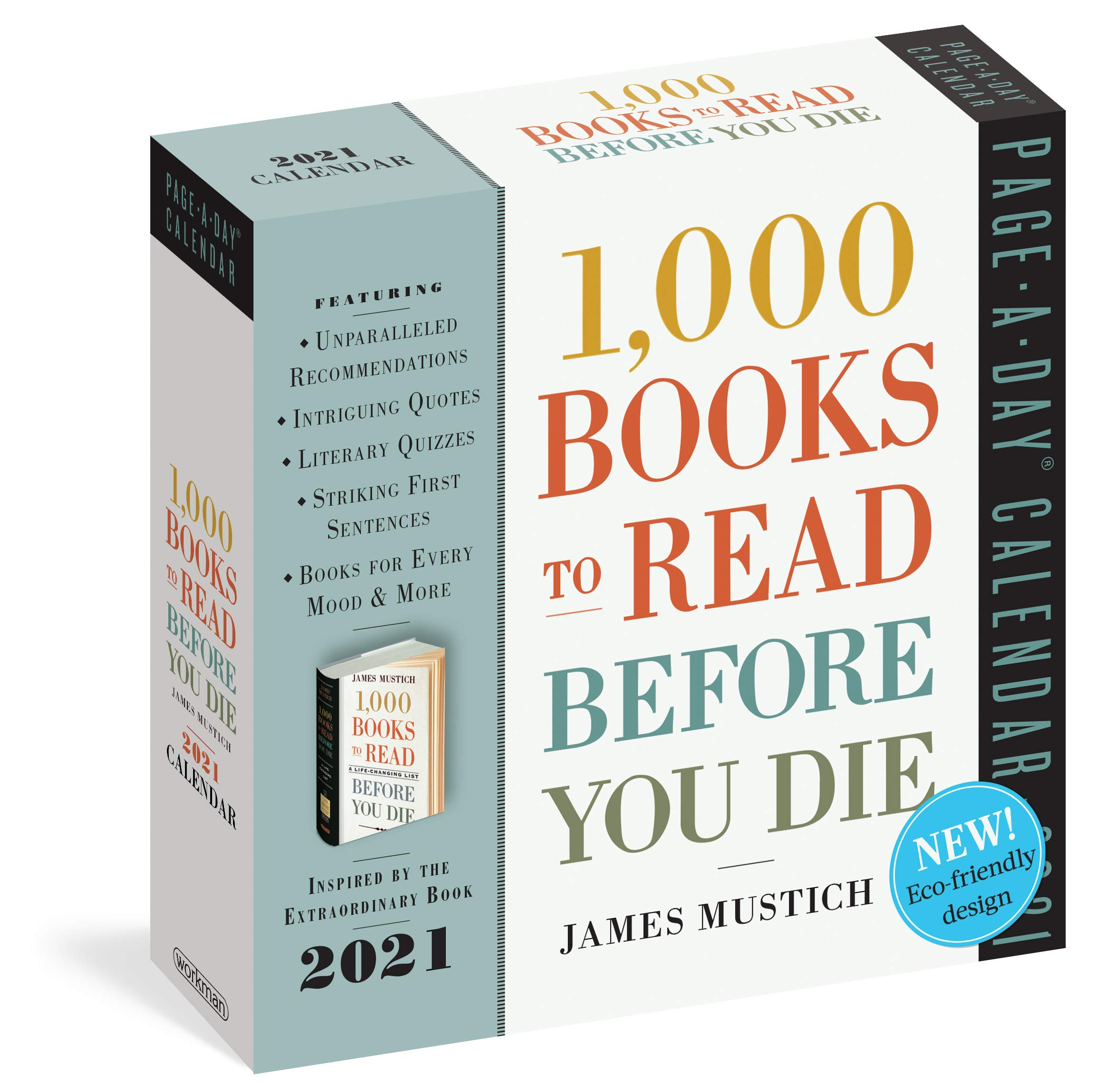 20,20 Books To Read Before You Die 20220 Calendar  Mustich, James ...