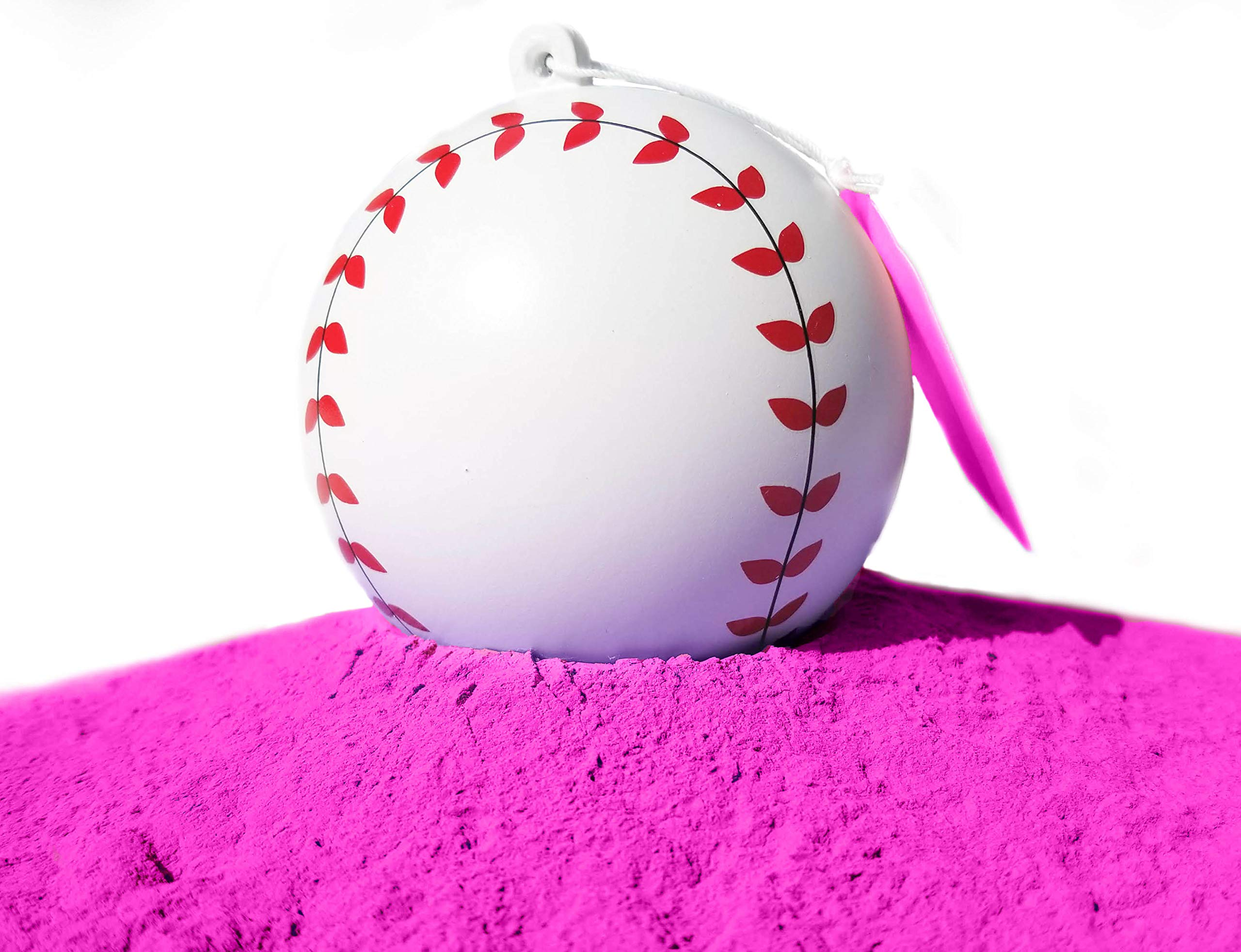 J&M Gender Reveal Baseball for Baby Showers and Reveal Parties - 100% All Natural Holi Powder (Pink) by J&M Gender Reveal