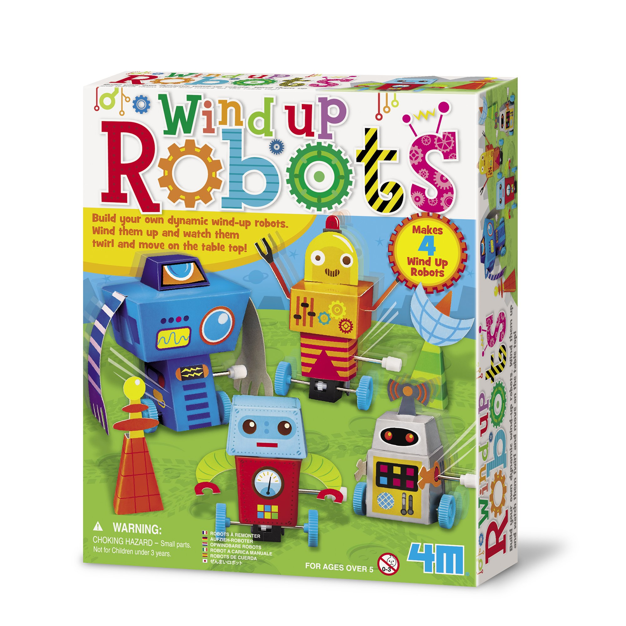 4M Wind Up Robots Kit