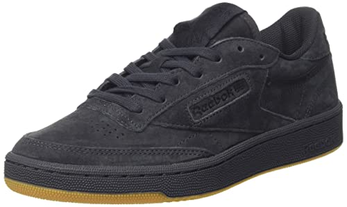 c84cf46464d151 Reebok Classics Men s Club C 85 Tg Lead and Black-Gum Leather Tennis Shoes -