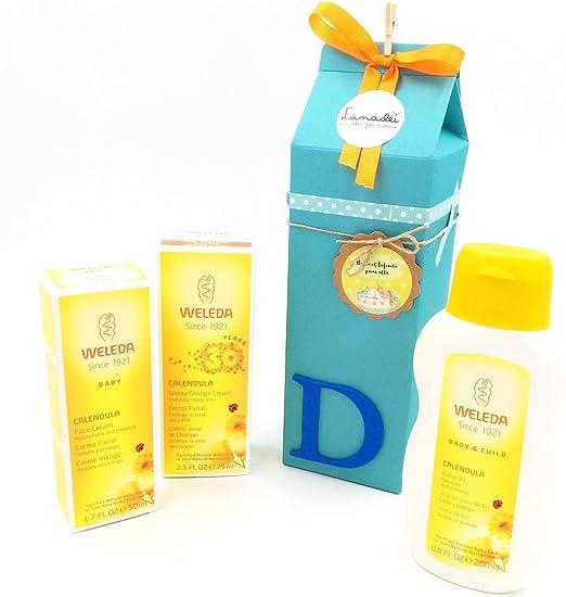 Regalo Muy chulo para Recién Nacidos con Tres Productos Weleda BIO | Baby Shower Idea Regalo | Tono Azúl, para niños: Amazon.es: Bebé