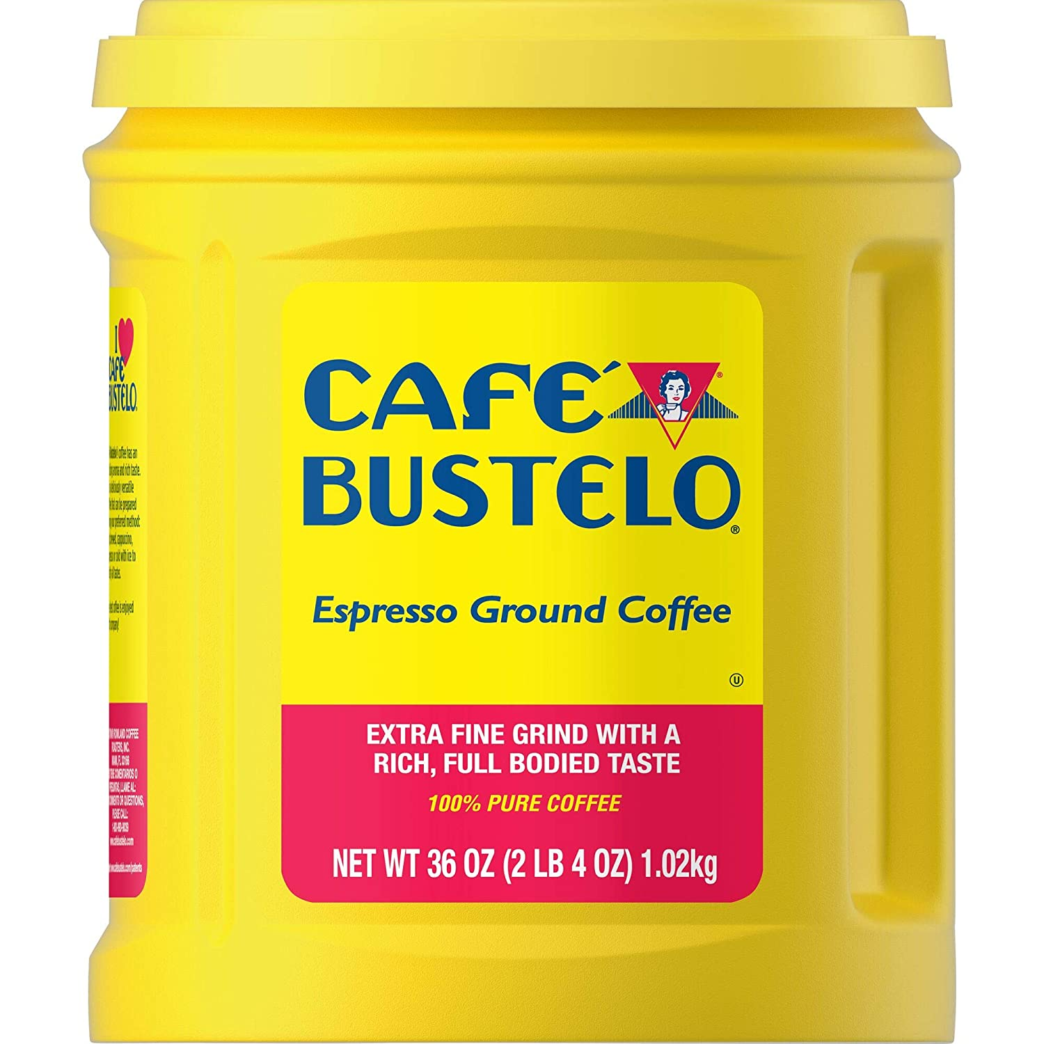 Café Bustelo Coffee Espresso Extra Fine Ground Coffee, 36 Ounces