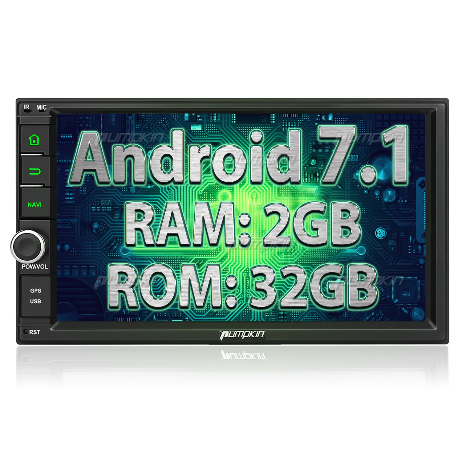 Amazon.com: Android 7.1 Car Stereo Double Din with GPS and WiFi,  Navigation, Bluetooth, Support Fastboot, Backup Camera, MirrorLink, OBD2,  ...