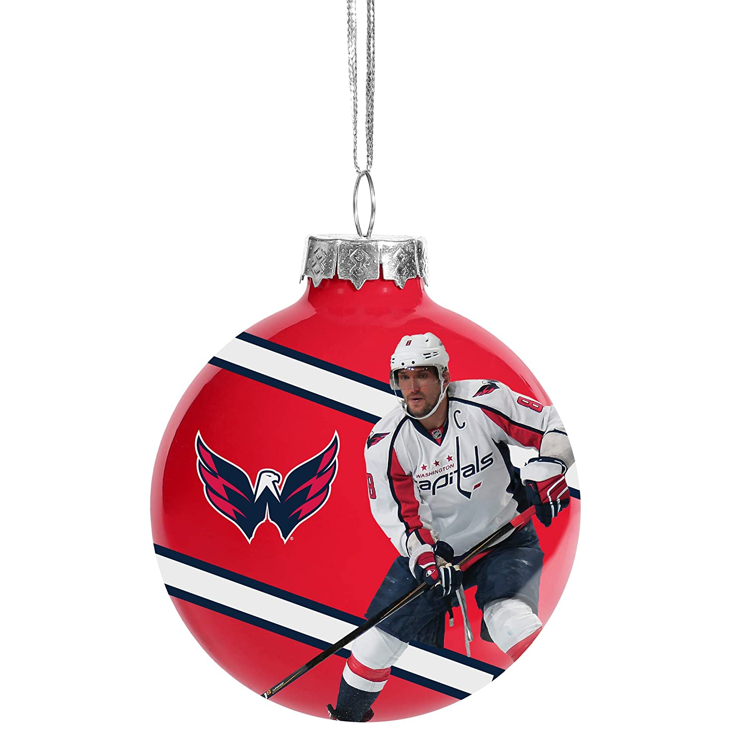 FOCO Washington Capitals 2018 Stanley Cup Champs Glass Ball Christmas Tree Ornament 2 5 8 Alex Ovechkin