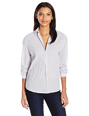 ff7460e38 Amazon.com: Joe's Jeans Women's Long Dana Striped Woven Shirt: Clothing
