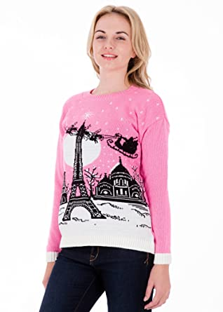 christmas in paris womens christmas sweater by british christmas jumpers extra large 20